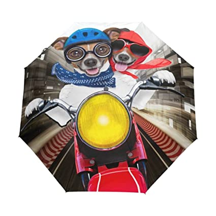 LiFei Business 2017 Dog Riding Moto Umbrella Animal Children Rain Umbrellas Sun Women Parasol Female Plegable