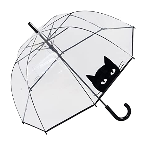 Susino Parapluie Cloche Transparent automatique - Chat Paraguas clásico, 83 cm, 81 Liters,
