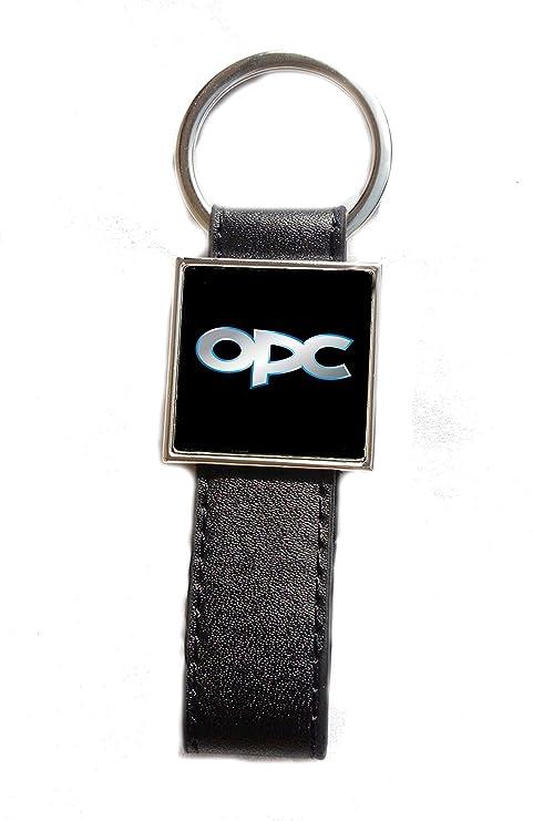 Llavero Acero/Piel sintética Logo Opel OPC (Fondo Negro ...