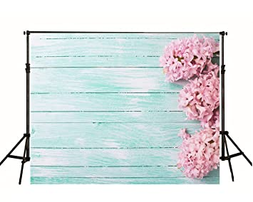 Amazon turquoise blue wood backdrops photography backgrounds turquoise blue wood backdrops photography backgrounds pink flowers on wooden floor painted wood wall photo studio mightylinksfo