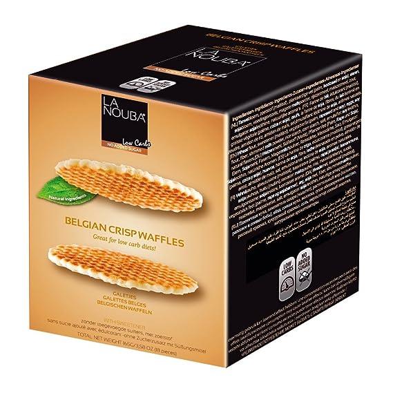 Gofres Belgas crujientes low carb La Nouba 165 g: Amazon.es ...