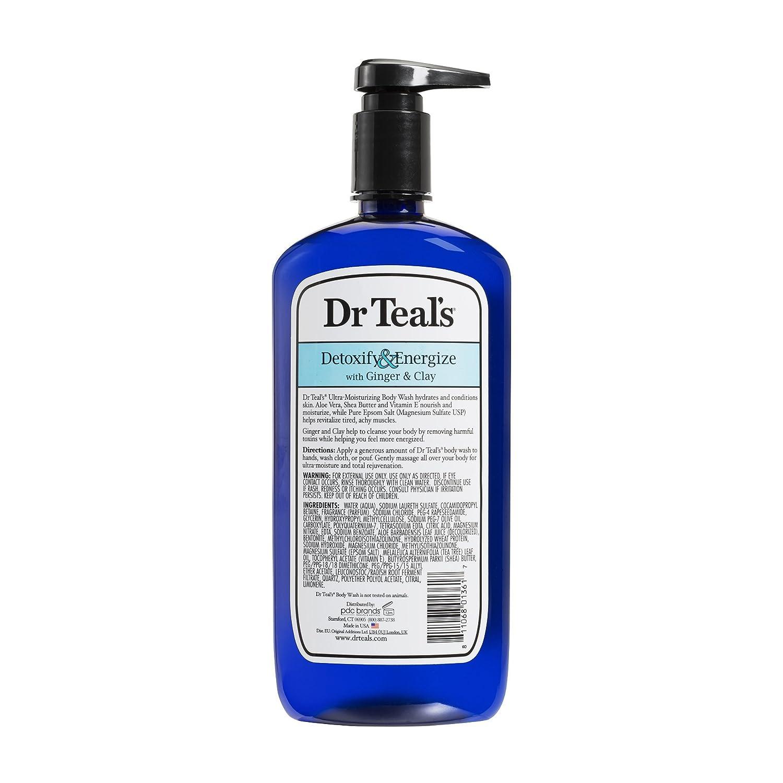 Dr azul puro del Epsom sal Body Wash desintoxican cartucho de energía con jengibre y arcilla 710 ml: Amazon.es: Belleza
