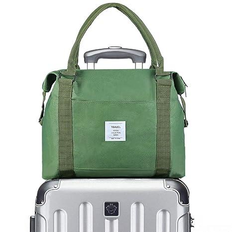 f090a9335 VCEC Travel bag Travel Duffle Bag Lightweight Waterproof,Women Ladies Man  Canvas Weekender Bag Overnight