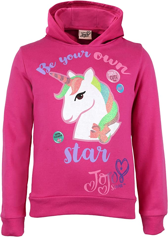 Boys Girls Unicornio Unicorn Teen Youth Hoody Black