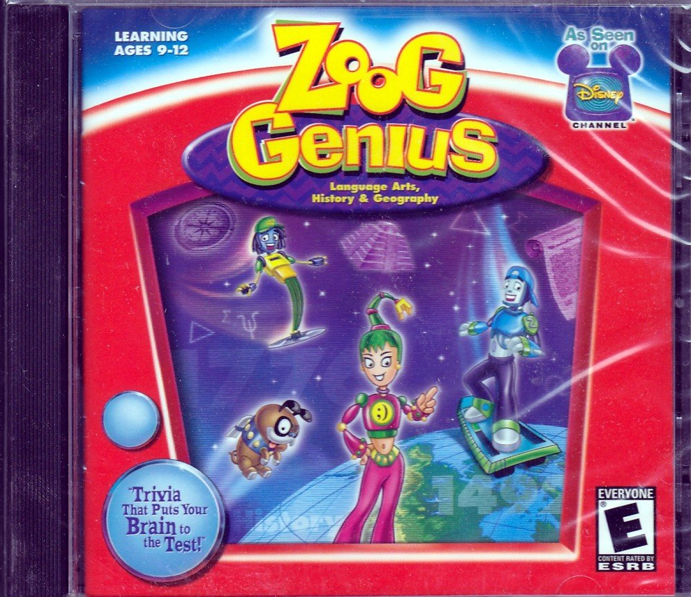 Zoog Genius: Language Arts, History, Geography (Jewel Case) by Disney Interactive Studios