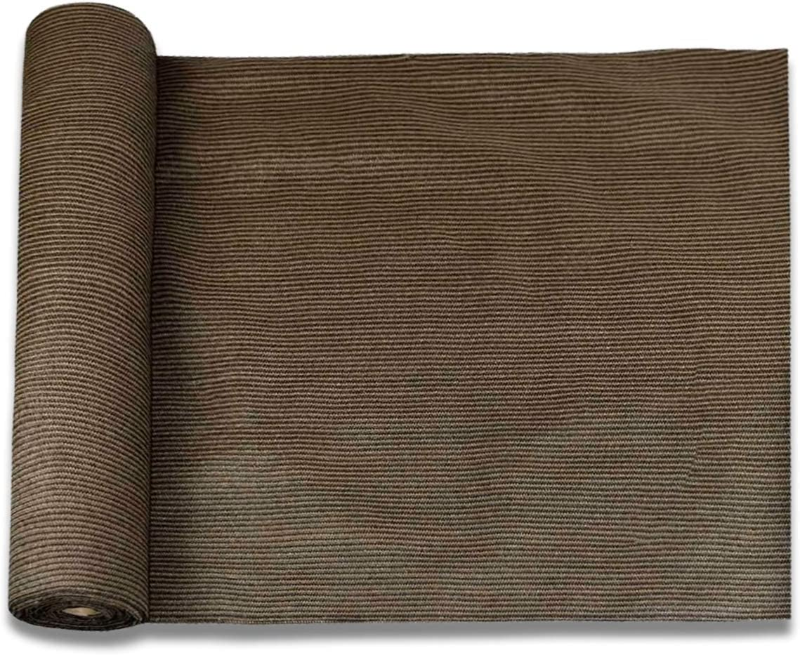 E&K Sunrise 6' x 50' Brown Sun Shade Fabric Sunblock Shade Cloth Roll, 95% UV Resistant Mesh Netting Cover for Outdoor,Backyard,Garden,Greenhouse,Barn,Plant (Customized