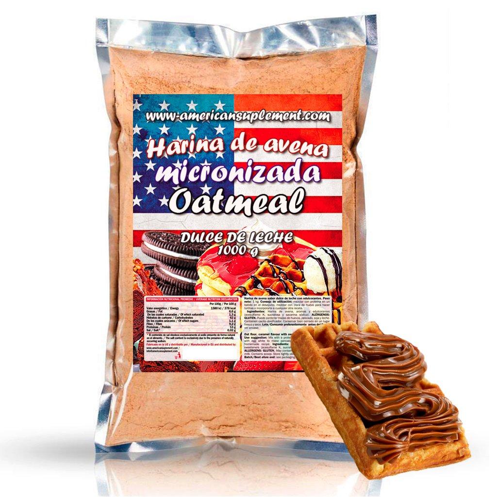 American Suplement - Harina de Avena Micronizada - 1kg - Dulce de leche: Amazon.es: Salud y cuidado personal