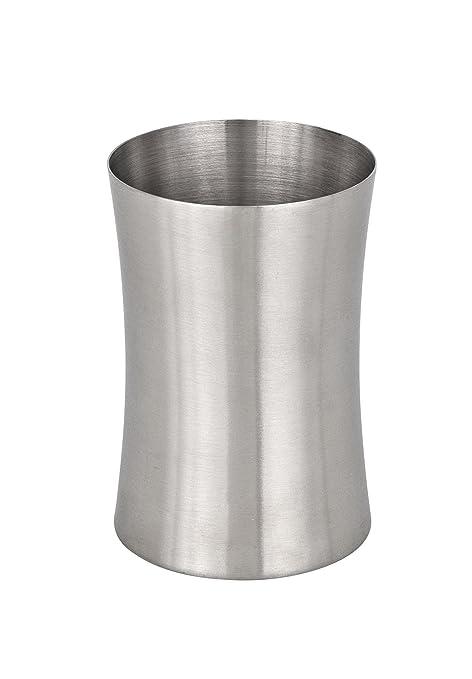Wenko Vaso para Cepillos de Dientes, Acero Inoxidable, Plata, 6.7x6.7x9.9 cm
