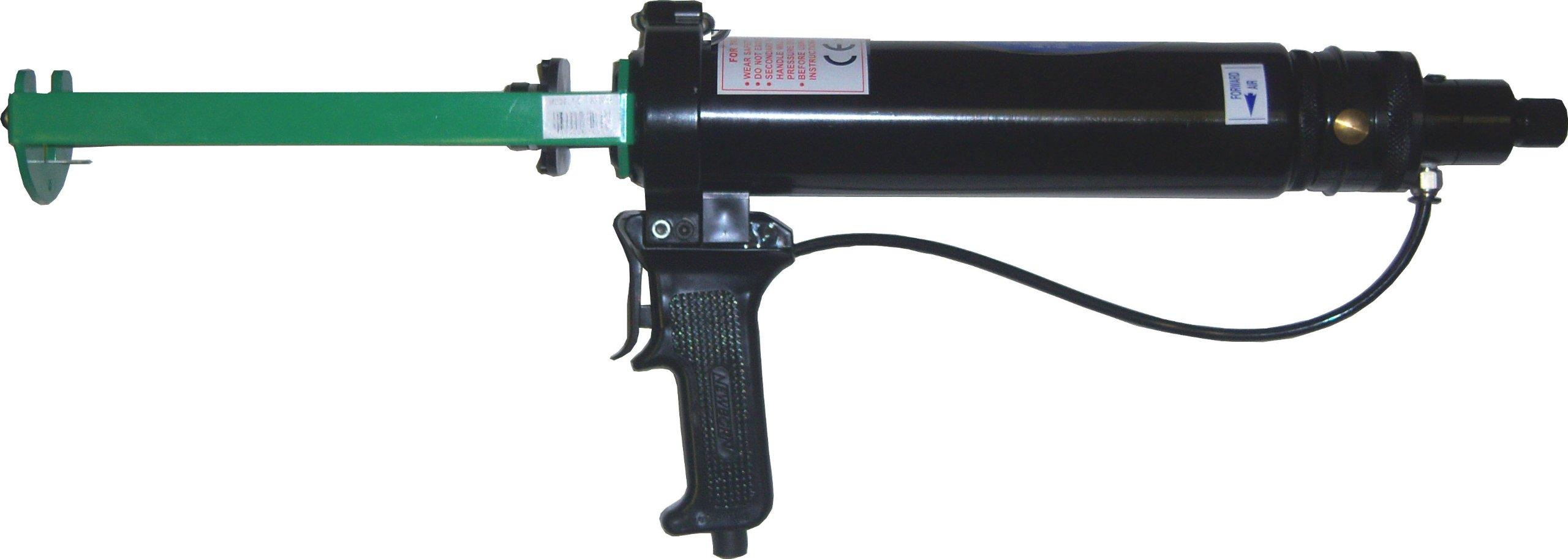 Newborn 830A15 Dual-Component Pneumatic Applicator, 2-1/2'' Cylinder, for 150 mL x 150 mL Cartridges, 100 psi