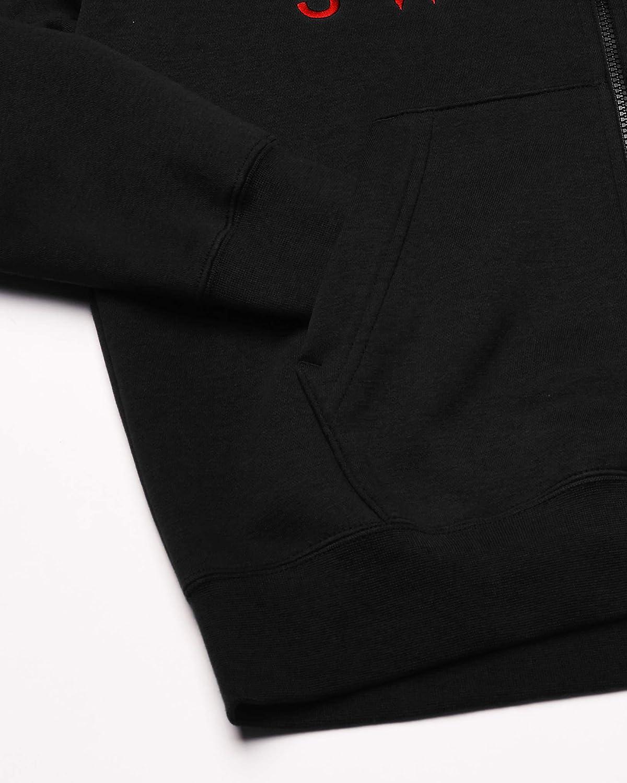 Nike Herren M NSW Swoosh Hoodie Fz Bb Sweatshirt Black/University Red/White