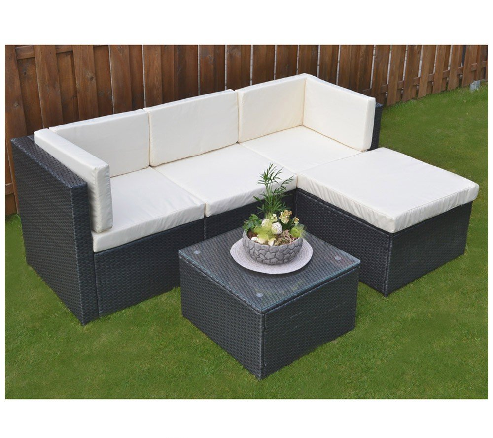 home deluxe polyrattan sitzgruppe pulter g nstig bestellen. Black Bedroom Furniture Sets. Home Design Ideas