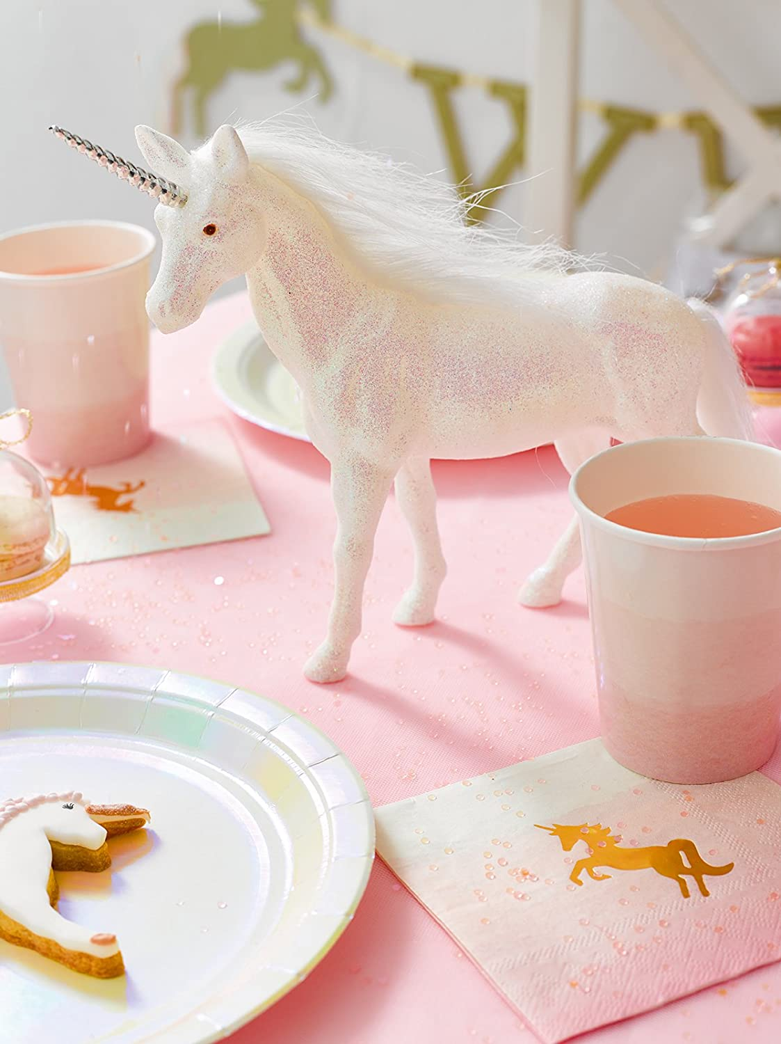 Iridescent Glitter Talking Tables Unicorn Party Supplies Unicorn Unicorn Prop For Table