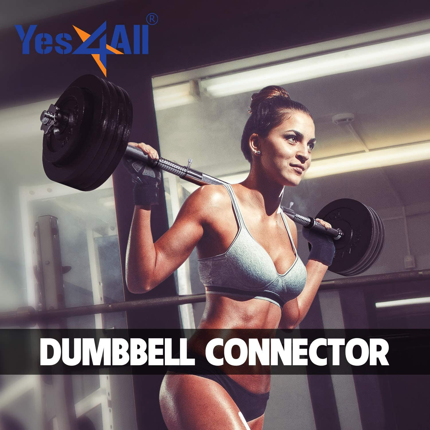 """Yes4All Adjustable Dumbbells 40, 50, 52.5, 60, 105 to 200 lbs with Connector Options (F. Chrome Connector 1, 15"""") : Sports & Outdoors"""