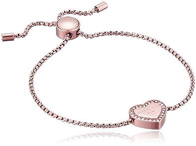 63d38dfe023e1 Michael Kors Logo Rose Gold-Tone Slider Bangle Bracelet