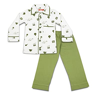 f9927daace Olele® Sleepwear for Boys 3-4years | Foodie Printed Night Suits for Boys |  Winter ...
