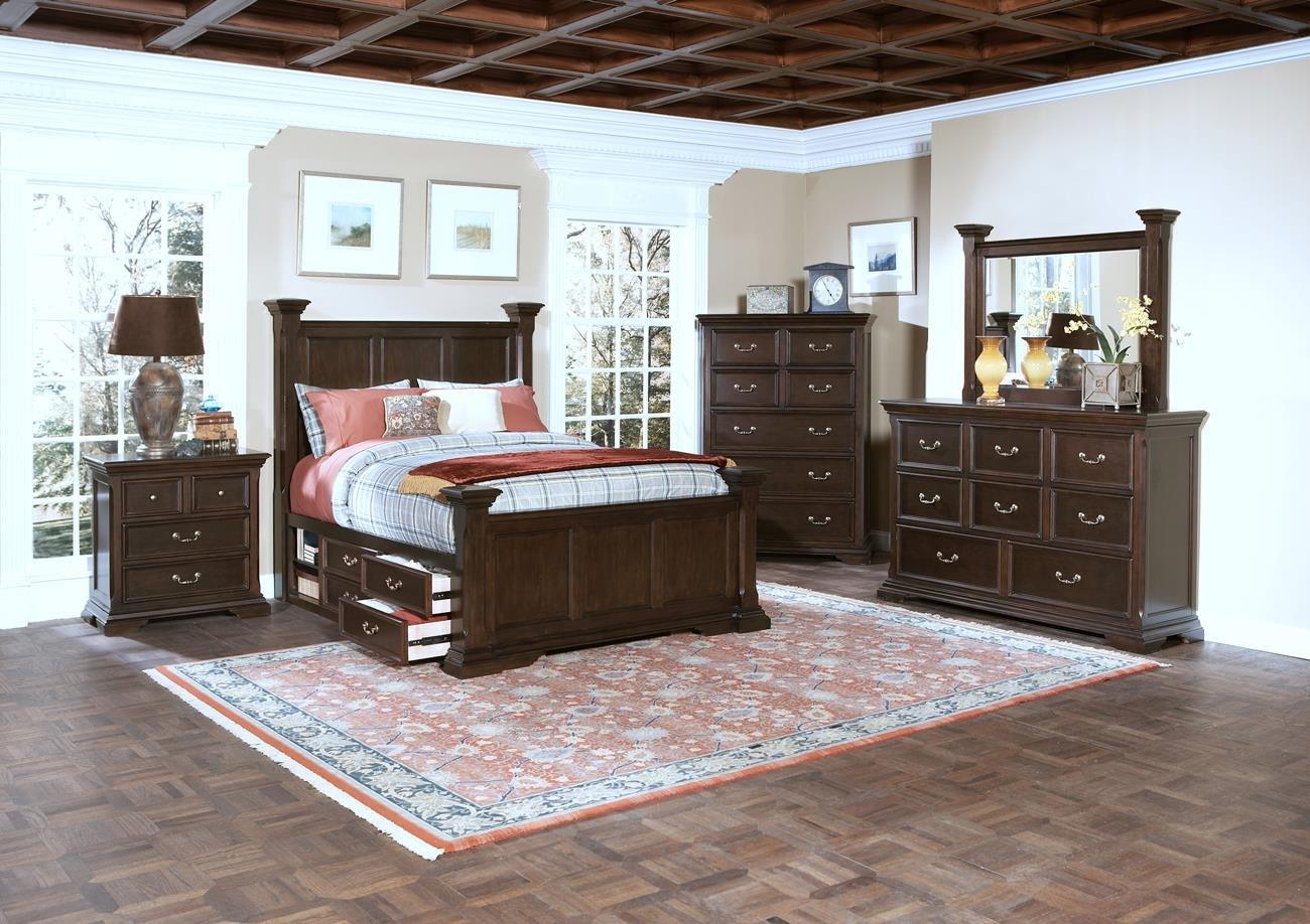 Amazon.com: Toledo 5 Piece Storage Cal King Bedroom Set with ...