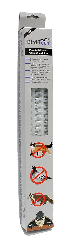 Pieza 45cm Pinchos Anti-aves y anti-gatos Polipropileno anti UV (Transparente)
