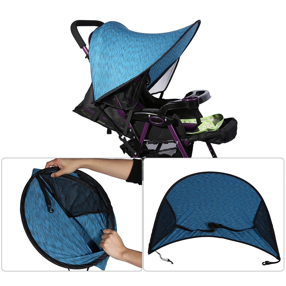 Baby Stroller UV Protector Sun Protection Baby Sun Shield Sunshade Cover for Strollers Car Seats and Pram HZC144 Purple