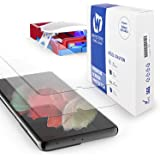 [Dome Glass] Galaxy S21 Ultra Screen Protector, Full HD Clear 3D Curved Edge Tempered Glass [Compatible with Ultrasonic Finge