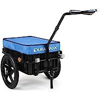 DURAMAXX Big-Mike • Fahrradanhänger • Lastenanhänger • Handwagen • mit Hochdeichsel • Transportbox mit 70 Liter Volumen • Tragkraft: max. 40 kg • Kugel-Kupplung für Fahrräder mit 26'' - 28'' • pulverbeschichteter Stahlrohrrahmen • schwarz oder blau