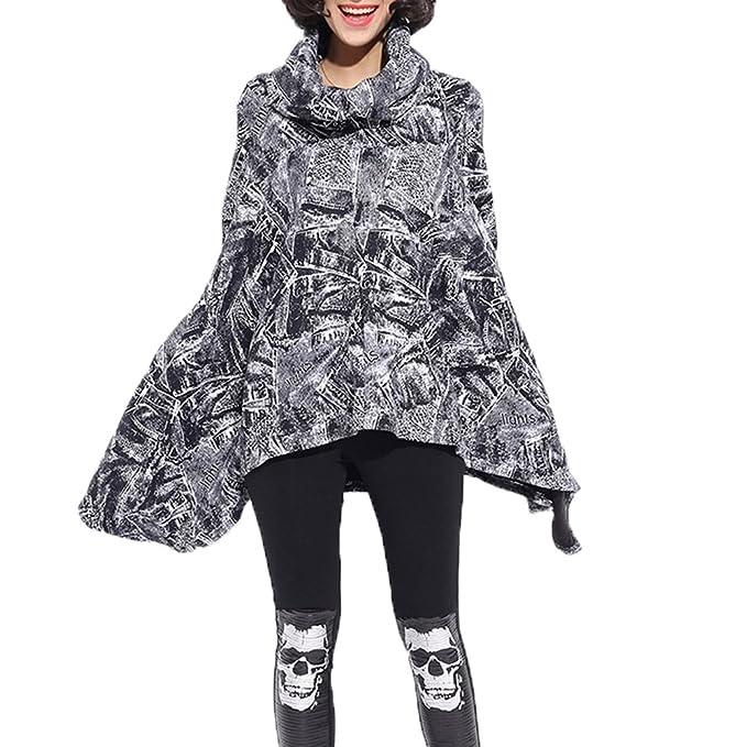 Très Chic Mailanda – Poncho-jersey de manga larga, con corte