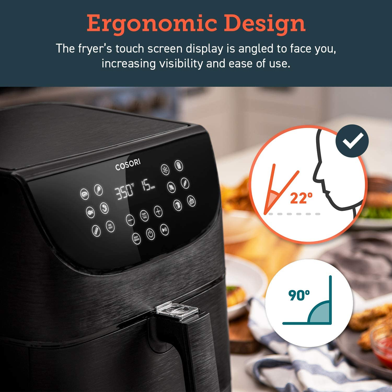 COSORI 5.8QT Electric Hot Air Fryers Oven - Ergonomic design