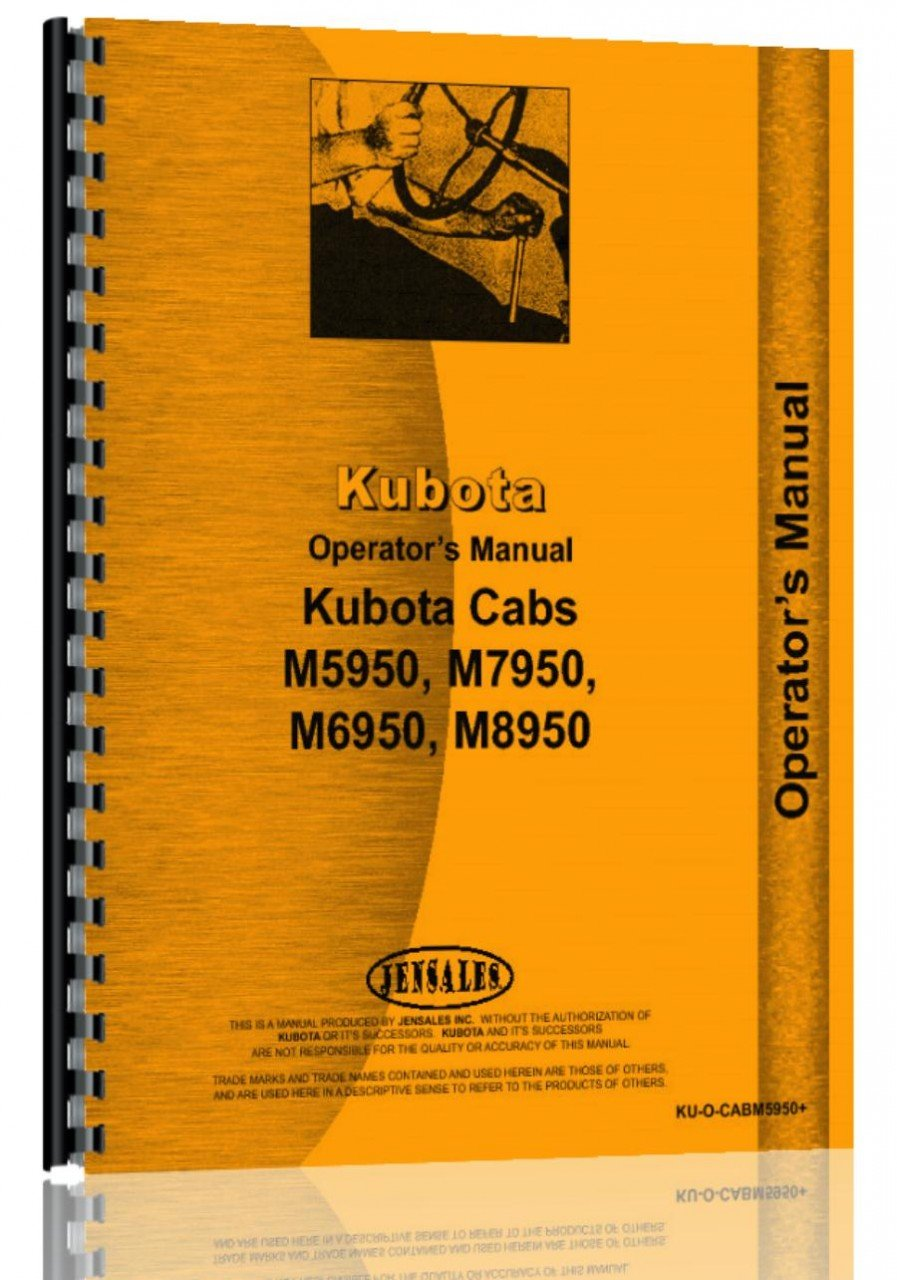 Kubota M6950DT Tractor Operators Manual: Kubota Manuals: 0739718105454:  Amazon.com: Books