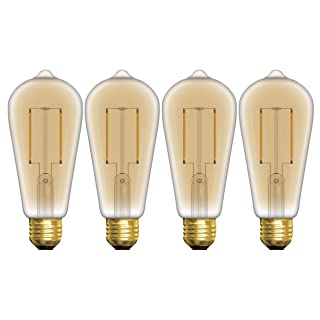 GE Lighting 37624 LED Vintage ST19 Light Bulb with Medium Base, 5-Watt, Soft White, 4-Pack, Piece