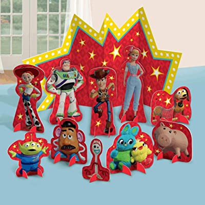 "Amscan""Toy Story 4"" Red and Yellow Party Table Decorating Kit, 10 Pc.: Toys & Games"