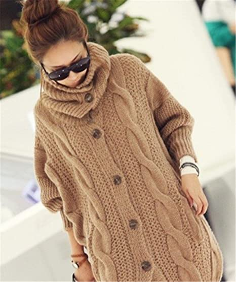 b95e7f0b33 EMIN Women s Print Drape Open Front Drape Boyfriend Cardigan Sweaters  Knited Sweater Coat Outwear  Amazon.co.uk  Clothing