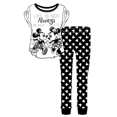 6fb99e8e11 Warner Bros Womens Nightwear Pyjamas Ladies Minnie Mouse Dalmations Cotton  PJs Top Pants Set (Minnie