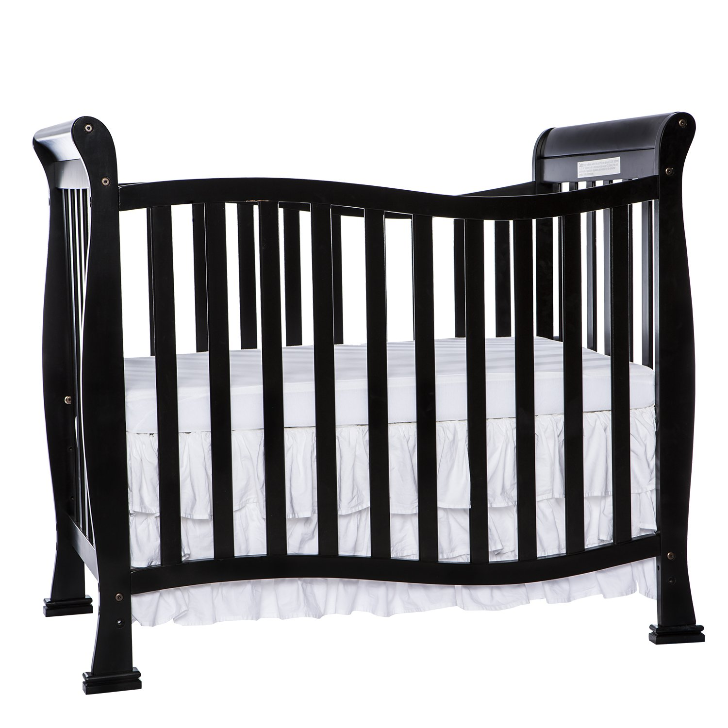 Dream On Me Violet 4 in 1 Convertible Mini Crib, Black