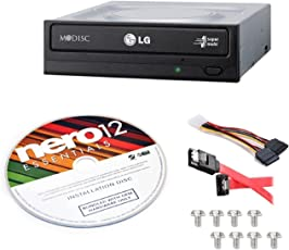 LG Electronics GH24NS95B-KIT 24X SATA DVD Internal Rewriter with M-Disc Support + Nero 12 Essentials + Sata Cable Kit