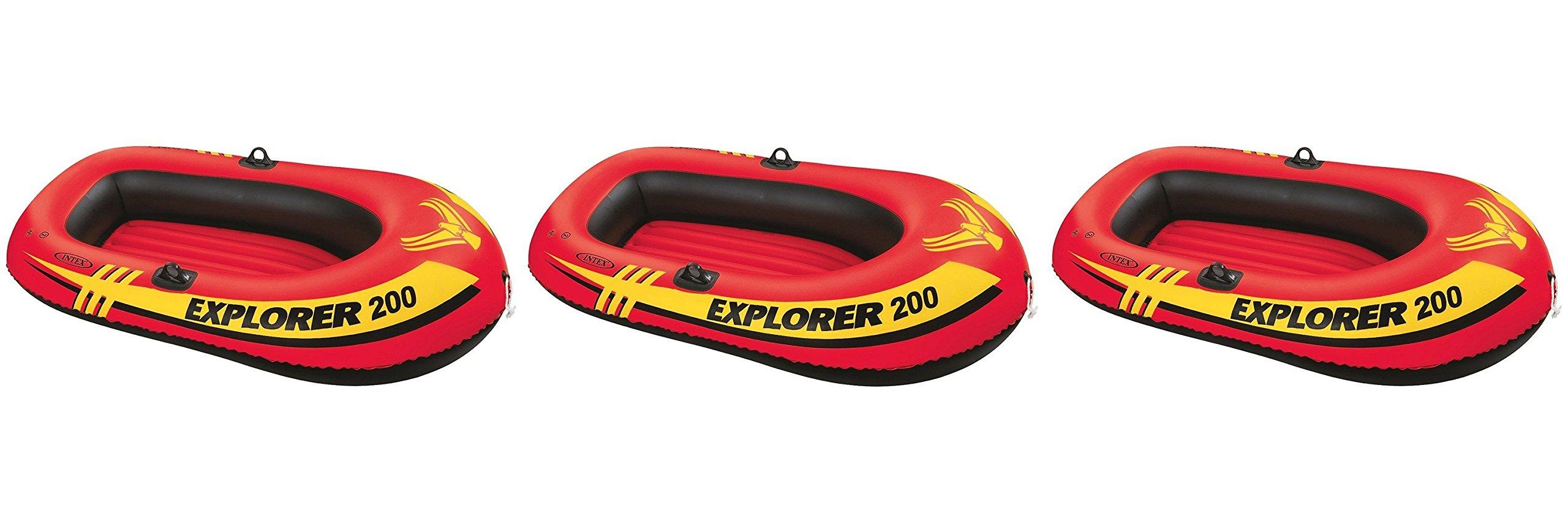 Intex Explorer 200, 2 Person kurcas Inflatable Boat, 3 Units