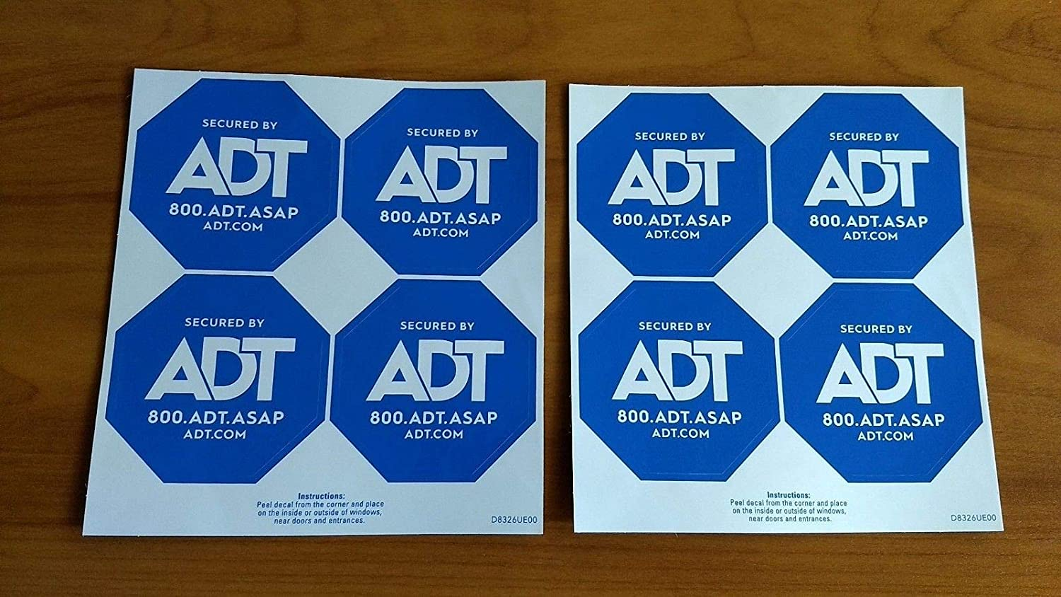 1 ADT sign and 8 new double sided stickers