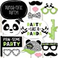 Big Dot of Happiness Party Like a Panda Bear - Baby Shower or Birthday Party Photo Booth Props Kit - 20 Count