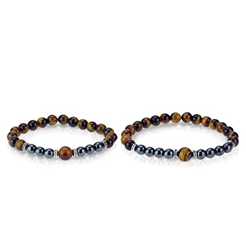 couples bracelets couples gift Tiger eye promise bracelets distance bracelets his and his bracelets anniversary gift boyfriend gifts