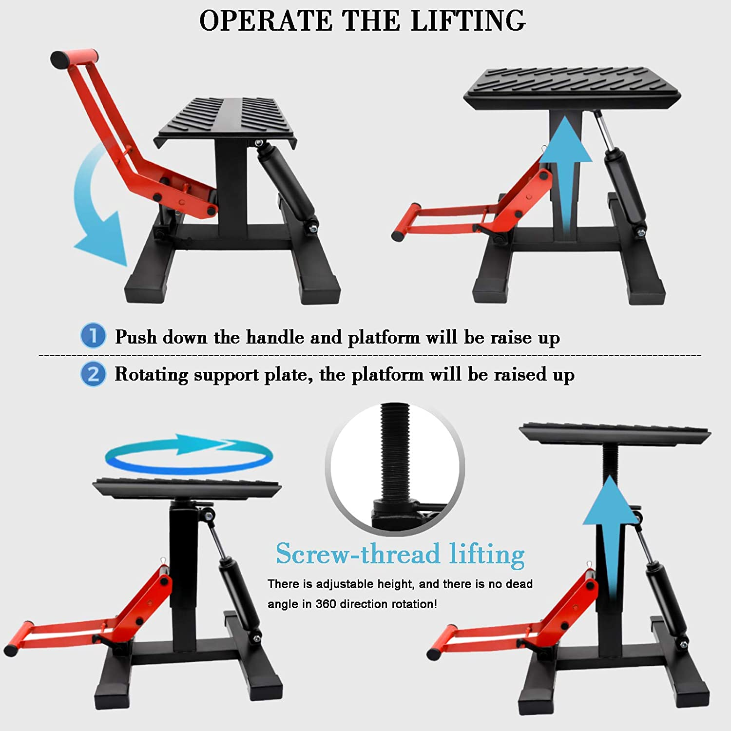 LEIMO /Motorcycle Dirt Bike/Stand/Jack Lift Hoist Table Height Adjustable Lifting Stand