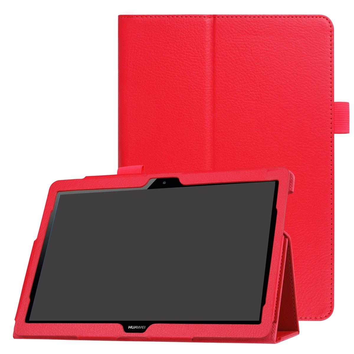 CaseFirst Huawei MediaPad T3 10.0 Case, [Portable Wallet ] [ Slim Fit ] Heavy Duty Protective Design Flip Cover Wallet Case for Huawei MediaPad T3 10.0 - Pink 391O-A0-798