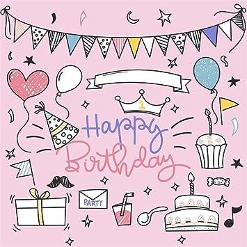 LFEEY 5 x 5 pies Dibujo de Dibujos de Primera cumpleaños ...