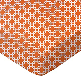 product image for SheetWorld Fitted Cradle Sheet - Orange Links - Made In USA