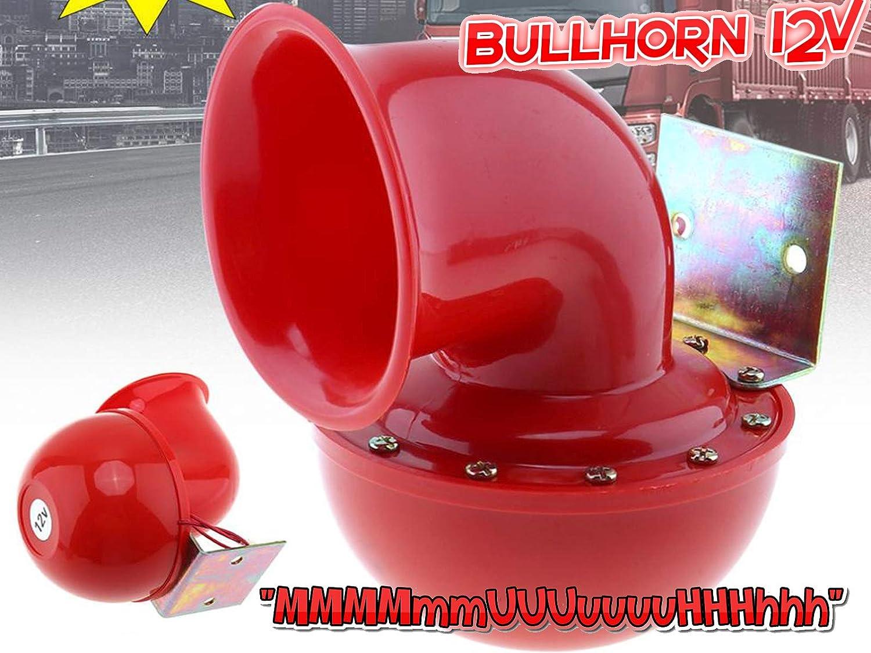 Bullhorn Stiergebrüll Hupe Fanfare Kuhhupe Büffel Horn 12volt Mmmmmmuuuuuuuhhhhhh Auto