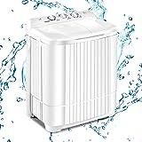 Nictemaw 20.7lbs Portable Washing Machine,Twin Tub Washing Machine-washing of 13 lbs and Spin Combo of 7.7 lbs,Mini Compact w