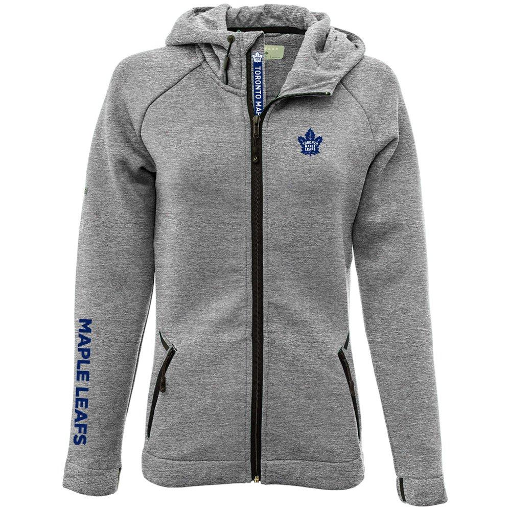 Heather Pebble Levelwear LEY9R Adult Women Motion Insignia Bold Full Zip Hooded Jacket X-Large