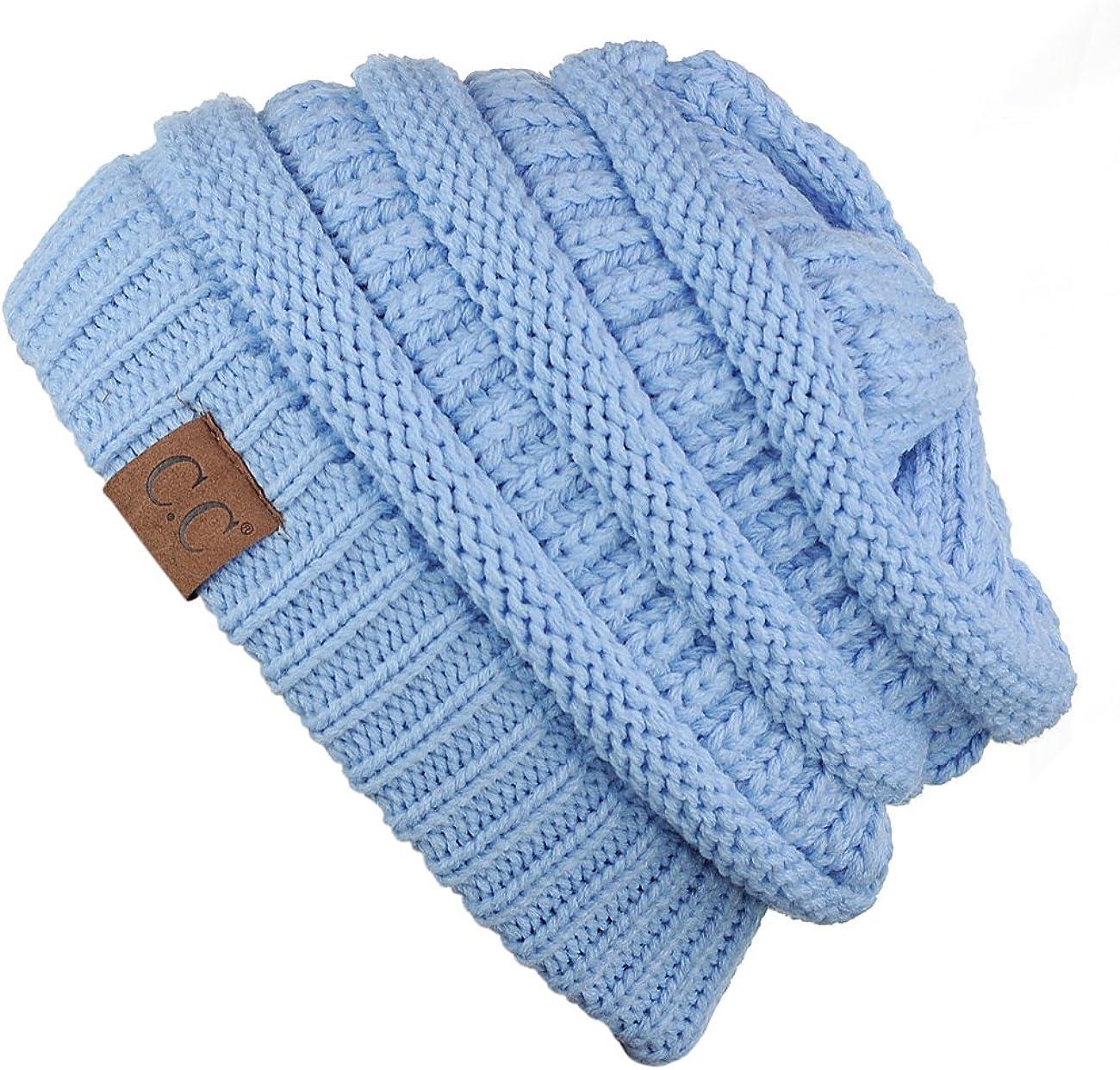 pour un look fabuleux lors de vos activit/és hivernales. C/&C Bonnet Slouch unisexe tricot/é