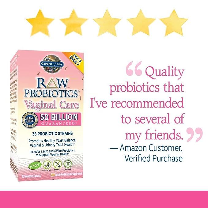 Los probióticos RAW, el cuidado vaginal, 30 Caps Veggie ...