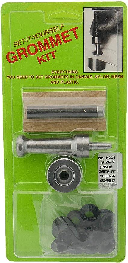 38 Hole C.S Osborne Set-It-Yourself Grommet Kit K233-2 W Black Grommets