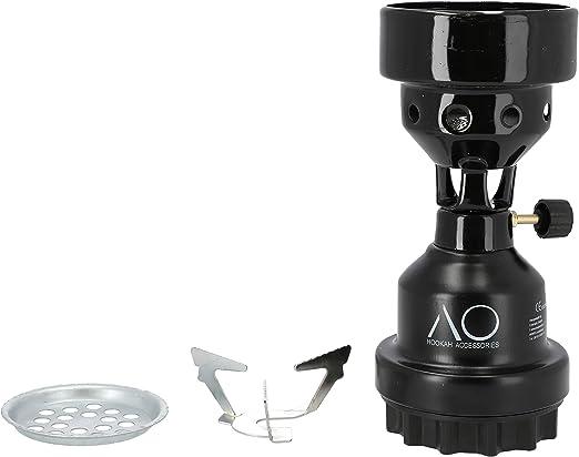 AO® Horno de Acampada hornillo Camping Gas Cocina de Gas Quemador Encendedor para carbón cachimba Natural (Negro): Amazon.es: Hogar