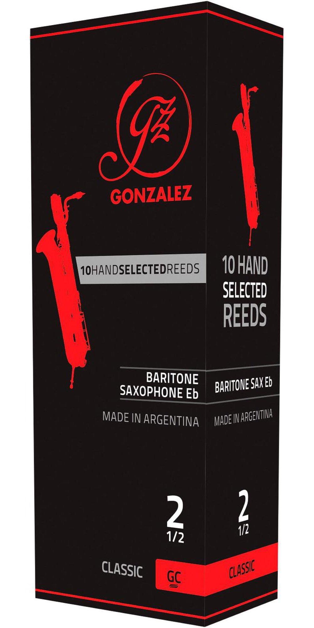 Gonzalez Classic Baritone Saxophone Reeds Box of 5 Strength 3