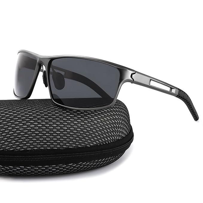 Deportivas Gafas De Sol Hombre Polarizadas Anti Reflectante Ultraligero Metal Protección 100% UVA UVB (